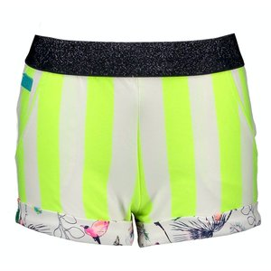 B.NOSY meisjes korte broek safety yellow stripe