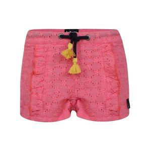 BEEBIELOVE meisjes korte broek pink ruffle
