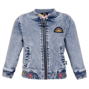 BEEBIELOVE meisjes bomberjas denim don't ever suit your dreams