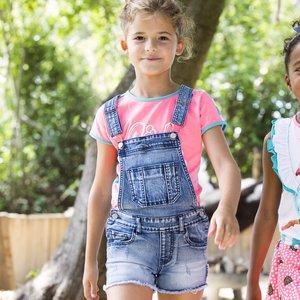 B.NOSY meisjes tuinbroek middle denim