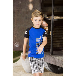 B.NOSY jongens t-shirt cobalt blue