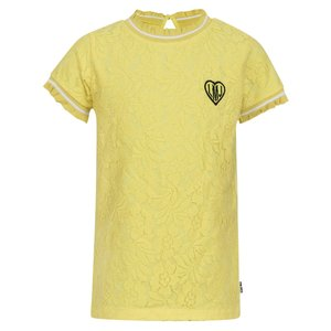 LITTLE MISS JULIETTE meisjes t-shirt yellow paint
