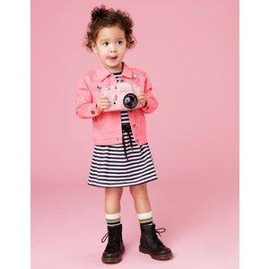 BEEBIELOVE meisjes spijkerjack pink