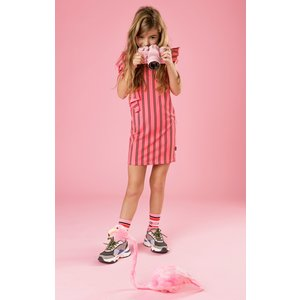 LITTLE MISS JULIETTE meisjes jurk pink asymmetrical