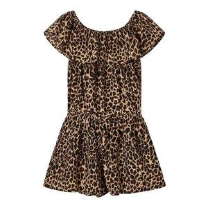 NAME IT meisjes jumpsuit black leopard print