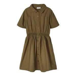 NAME IT meisjes jurk ivy green