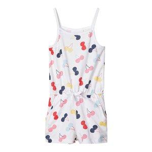 NAME IT meisjes jumpsuit bright white cherry