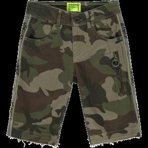 VINGINO jongens korte broek camouflage green rasin