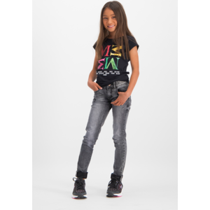 VINGINO meisjes t-shirt deep black hadice memphis