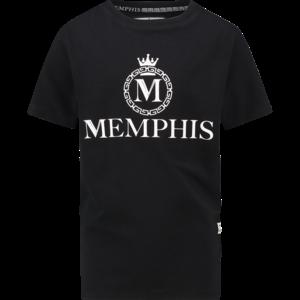 VINGINO jongens t-shirt deep black hozano memphis