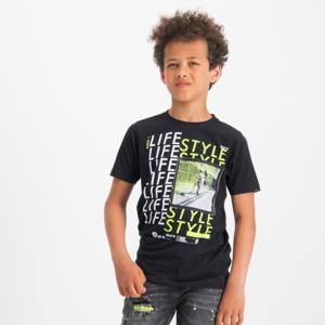 VINGINO jongens t-shirt deep black heffie
