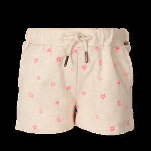 LE BIG meisjes korte broek paper beige melange silvie
