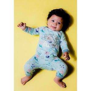CHARLIE CHOE meisjes jumpsuit mint green + aop