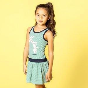 B.NOSY meisjes jurk small stripe with jade