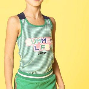 B.NOSY meisjes hemd small stripe with jade