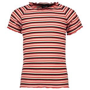 LIKE FLO meisjes t-shirt papaya stripe