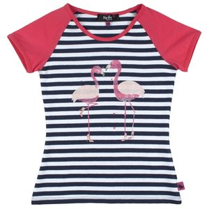 D-RAK meisjes t-shirt y/d stripes aop