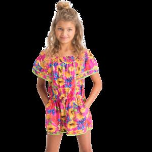 VINGINO meisjes jumpsuit neon pink pierette