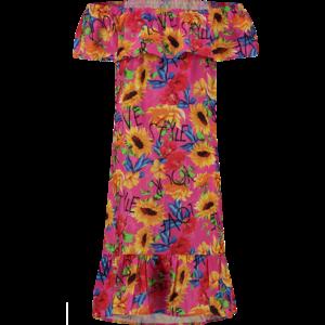 VINGINO meisjes jurk neon pink pelshin