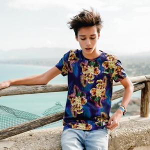 VINGINO jongens t-shirt multicolor blue haazim