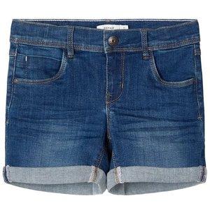 NAME IT meisjes korte broek dark blue denim