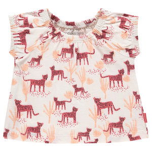 NOPPIES meisjes t-shirt rouge red choctaw