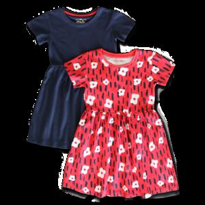 LEMON BERET meisjes 2-pack jurken poinsetta
