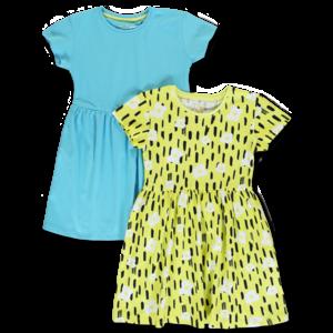 LEMON BERET meisjes 2-pack jurken limelight