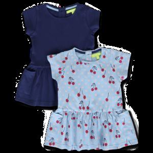 LEMON BERET meisjes 2-pack jurken patriot blue