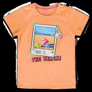 LEMON BERET meisjes t-shirt canteloupe