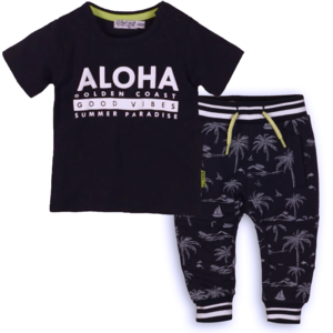 DIRKJE BABYKLEDING jongens t-shirt en joggingbroek navy
