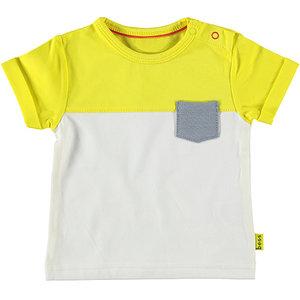B.E.S.S. jongens t-shirt yellow colorblock