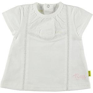 B.E.S.S. meisjes t-shirt white crochet