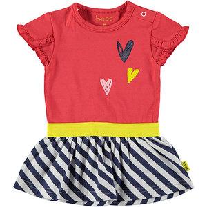 B.E.S.S. meisjes jurk red 3 hearts
