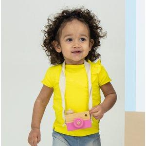 B.E.S.S. meisjes t-shirt yellow ruffle mini me