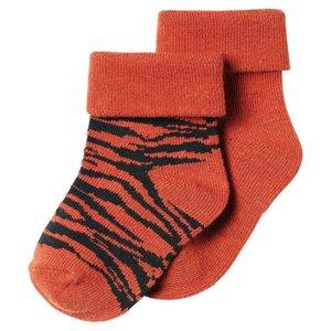 NOPPIES unisex 2-pack sokken spicy ginger blanquillo