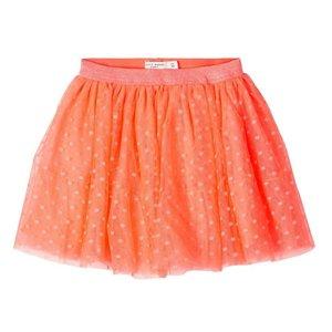 NAME IT meisjes rok neon coral
