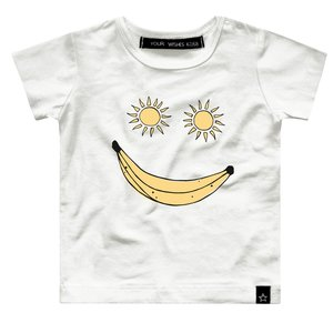 YOUR WISHES unisex t-shirt banana smile