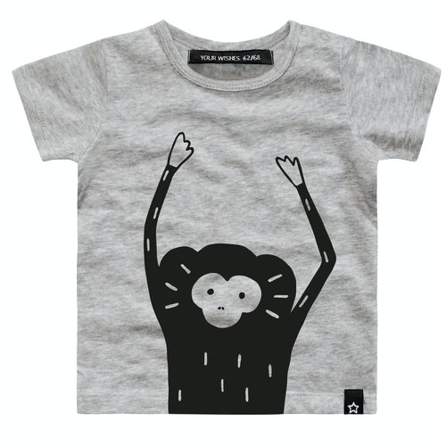 YOUR WISHES YOUR WISHES jongens t-shirt monkey face