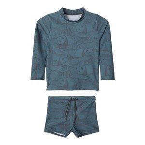 NAME IT jongens uv zwemset panda print goblin blue