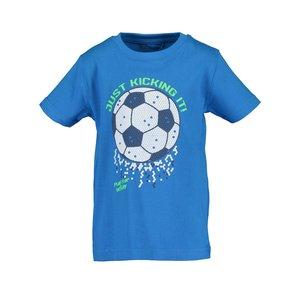 BLUE SEVEN jongens t-shirt cyan  soccer