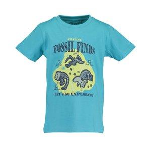 BLUE SEVEN jongens t-shirt cyan  dinos