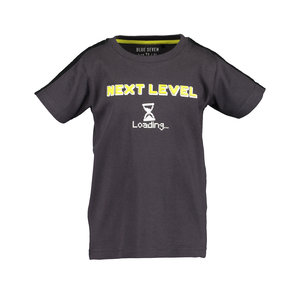 BLUE SEVEN jongens t-shirt dark grey game over