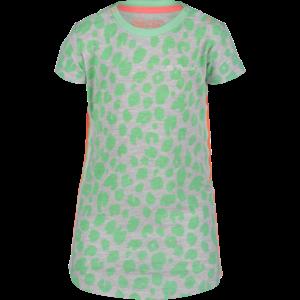 4PRESIDENT meisjes jurk neon pastel green aop vittoria