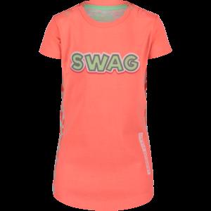4PRESIDENT meisjes jurk neon coral hiltje