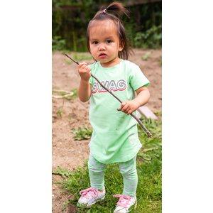 4PRESIDENT meisjes jurk neon pastel green hiltje