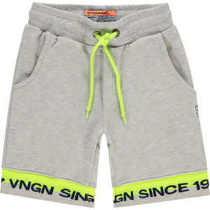 VINGINO jongens korte broek rafy light grey melee