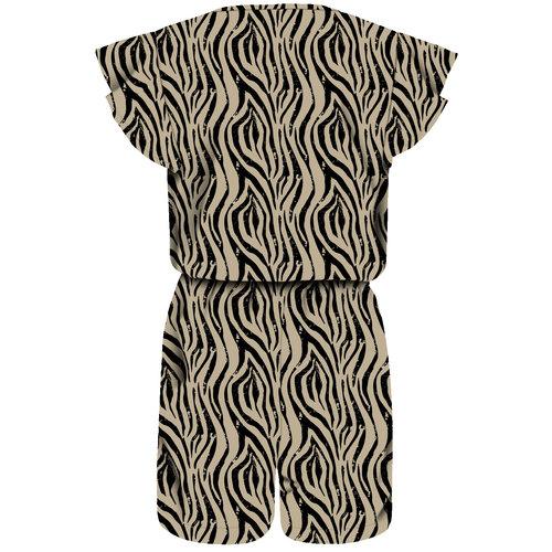 NAME IT Name It meisjes jumpsuit black zebra