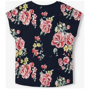 NAME IT Name It meisjes t-shirt dark sapphire aop big flowers