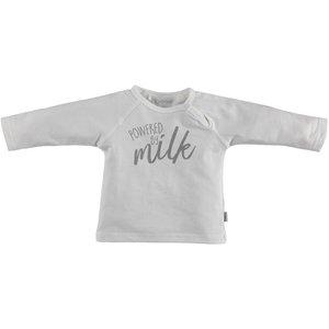 B.E.S.S. shirt longsleeves unisex powered by milk white